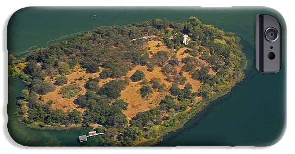 Private Island iPhone Cases - Aerial Anderson Island iPhone Case by Cheryl Young