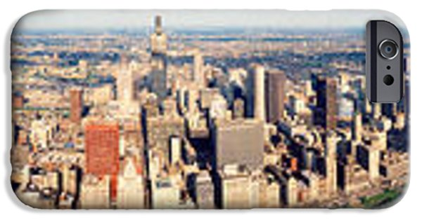 Chicago iPhone Cases - Aerial Chicago Il iPhone Case by Panoramic Images