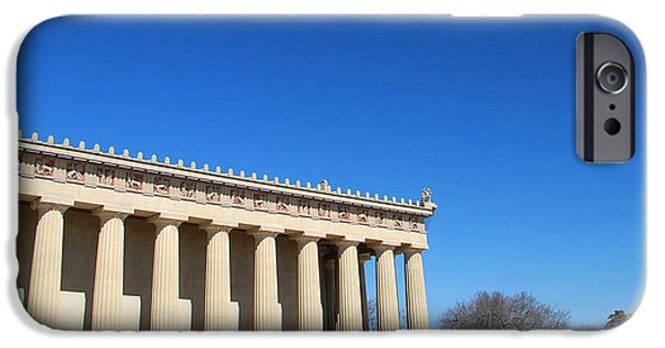 Controversy iPhone Cases - Aerial Drone UAV At The Parthenon iPhone Case by Dan Sproul