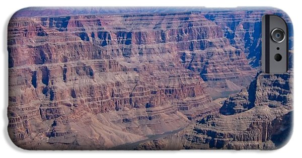 Grand Canyon iPhone Cases - aerial Grand Canyon iPhone Case by Sophie Vigneault