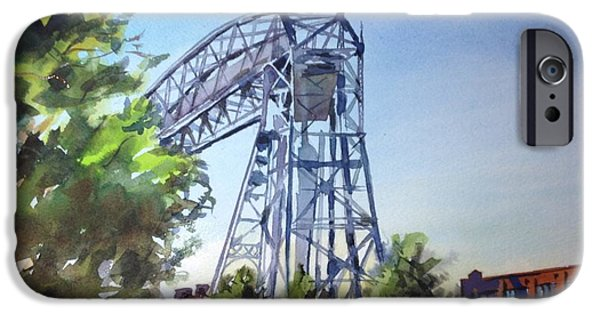 Duluth iPhone Cases - Aerial Lift Bridge iPhone Case by Spencer Meagher