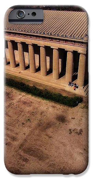 Aerial Photography Of The Parthenon iPhone Case by Dan Sproul