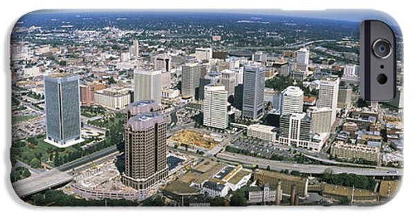 Finance iPhone Cases - Aerial Richmond Va iPhone Case by Panoramic Images
