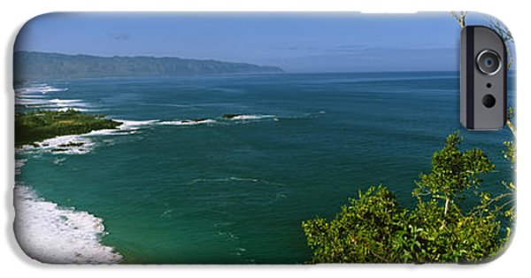 Hawaii Islands iPhone Cases - Aerial View Of A Beach, North Shore iPhone Case by Panoramic Images