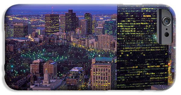 Built Structure iPhone Cases - Aerial View Of A City, Boston, Suffolk iPhone Case by Panoramic Images