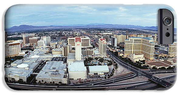 Horizon Over Land iPhone Cases - Aerial View Of A City, Las Vegas iPhone Case by Panoramic Images