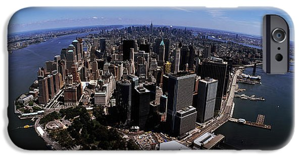 Built Structure iPhone Cases - Aerial View Of A City, New York City iPhone Case by Panoramic Images