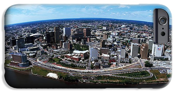Built Structure iPhone Cases - Aerial View Of A Cityscape, Newark iPhone Case by Panoramic Images