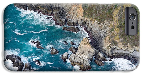 Big Sur California iPhone Cases - Aerial View Of A Coast, Big Sur iPhone Case by Panoramic Images
