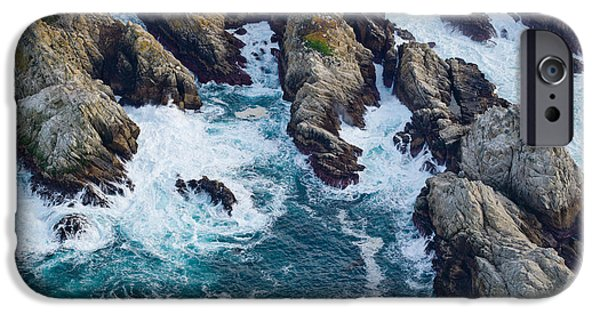 Point Lobos State iPhone Cases - Aerial View Of A Coast, Point Lobos iPhone Case by Panoramic Images