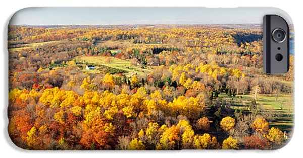 Bucks County iPhone Cases - Aerial View Of A Landscape, Delaware iPhone Case by Panoramic Images