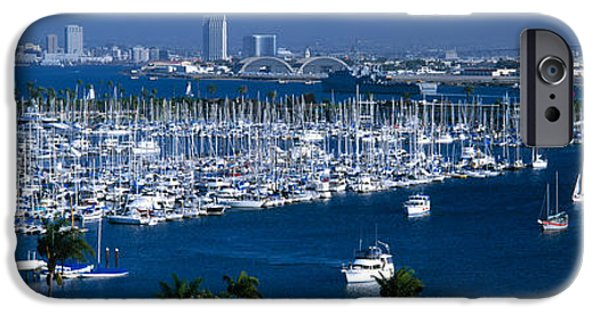 Built Structure iPhone Cases - Aerial View Of Boats Moored iPhone Case by Panoramic Images