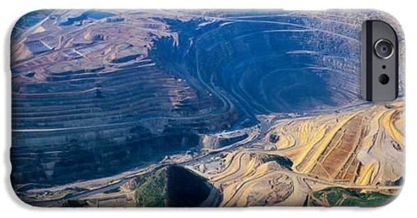 Mining iPhone Cases - Aerial View Of Copper Mines, Utah, Usa iPhone Case by Panoramic Images