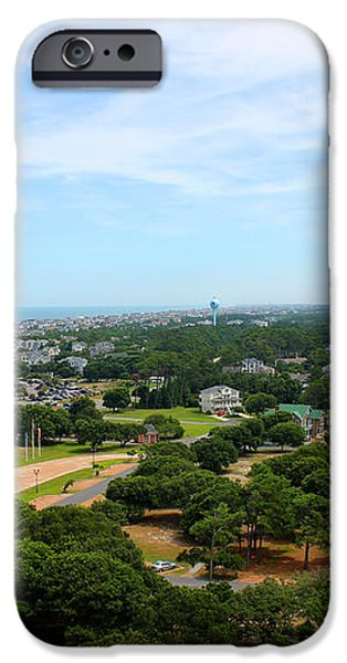 Aerial View of Corolla North Carolina Outer Banks OBX iPhone Case by Design Turnpike