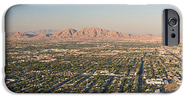 Stratosphere iPhone Cases - Aerial View Of Las Vegas iPhone Case by Panoramic Images