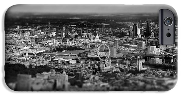 Aerial View iPhone Cases - Aerial View Of London 6 iPhone Case by Mark Rogan