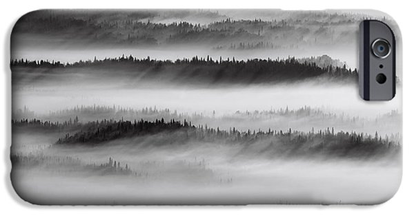 Nature Abstracts iPhone Cases - Aerial View Of Spruce Trees Standing In iPhone Case by Mark Stadsklev