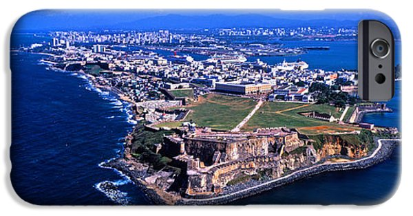 Aerial View iPhone Cases - Aerial View Of The Morro Castle, San iPhone Case by Panoramic Images