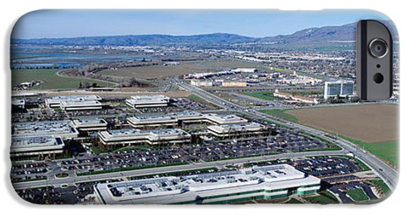 Technology iPhone Cases - Aerial View, Silicon Valley Business iPhone Case by Panoramic Images