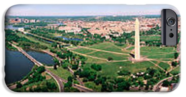 White House Photographs iPhone Cases - Aerial Washington Dc Usa iPhone Case by Panoramic Images