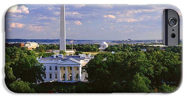 White House iPhone Cases - Aerial, White House, Washington Dc iPhone Case by Panoramic Images