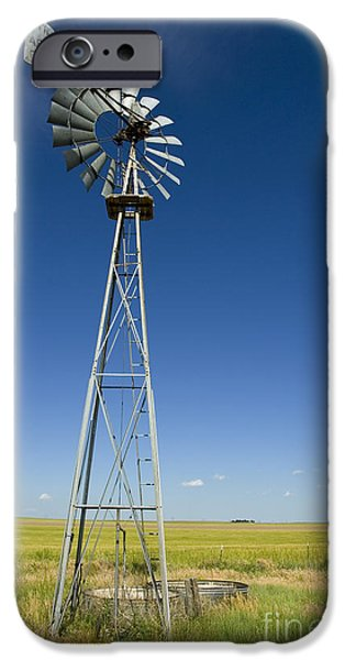 Nebraska iPhone Cases - Aermotor iPhone Case by Jerry McElroy