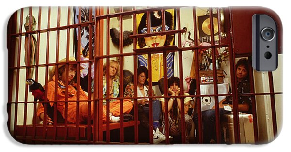 Tom Boy iPhone Cases - Aerosmith - In a Cage 1980s iPhone Case by Epic Rights