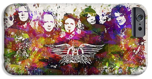 House iPhone Cases - Aerosmith in Color iPhone Case by Aged Pixel