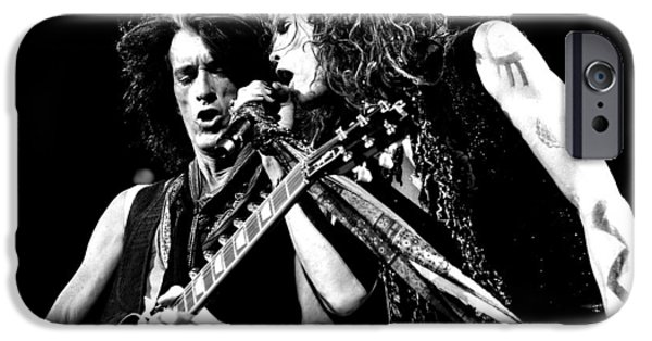 Tom Boy iPhone Cases - Aerosmith - Joe Perry & Steve Tyler iPhone Case by Epic Rights
