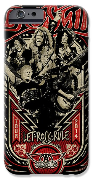 Tom Boy iPhone Cases - Aerosmith - Let Rock Rule World Tour iPhone Case by Epic Rights