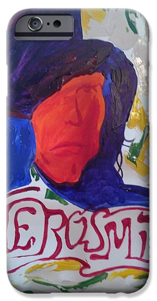 Steven Tyler Paintings iPhone Cases - Aerosmith iPhone Case by Michael Greeley