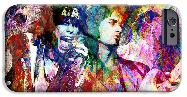 Steven Tyler Paintings iPhone Cases - Aerosmith Original Painting iPhone Case by Ryan RockChromatic