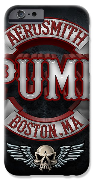 Tom Boy iPhone Cases - Aerosmith - Pump iPhone Case by Epic Rights