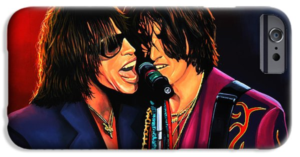 Falling iPhone Cases - Aerosmith Toxic Twins iPhone Case by Paul Meijering