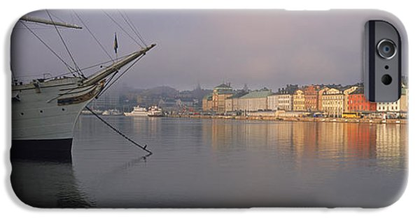 Tall Ship iPhone Cases - Af Chapman Schooner At A Harbor iPhone Case by Panoramic Images