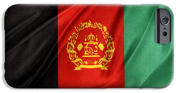 Patriotism iPhone Cases - Afghanistan flag iPhone Case by Les Cunliffe