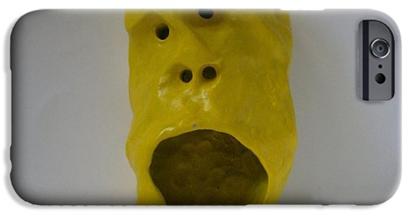 People Sculptures iPhone Cases - Africa iPhone Case by Giuseppe Epifani