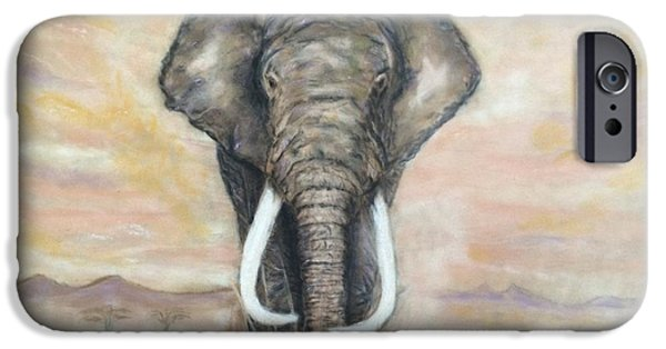 Animal Drawings iPhone Cases - Africa II  iPhone Case by Ugo Paradiso