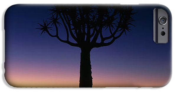 Eerie iPhone Cases - Africa, Namibia, Kokerboom Preserve iPhone Case by Panoramic Images