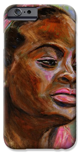 African American 3 iPhone Case by Xueling Zou