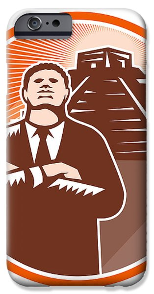 African American Businessman Protect Pyramid iPhone Case by Aloysius Patrimonio