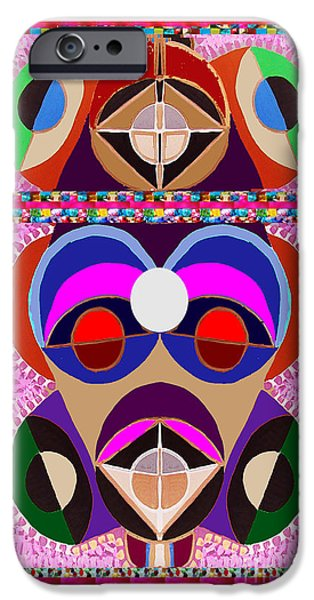 Mascots Mixed Media iPhone Cases - African ART style MASCOT Wizard Magic Comedy Comic Humor  NavinJoshi Rights Managed Images Clawn    iPhone Case by Navin Joshi