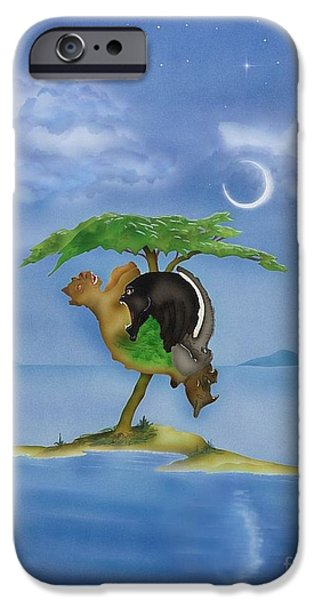 Airbrush iPhone Cases - African Blend iPhone Case by Fred-Christian Freer