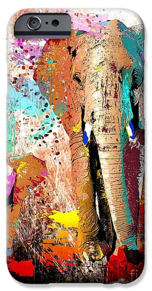 Recently Sold -  - Fauna iPhone Cases - African Elephant Family iPhone Case by Daniel Janda