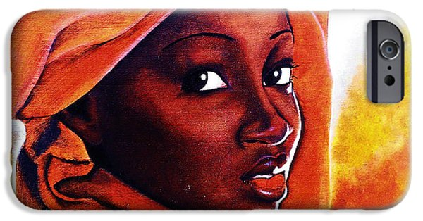 Ethiopian Woman iPhone Cases - African Fire iPhone Case by Yashar Akzar
