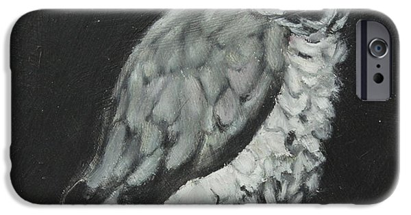One Pastels iPhone Cases - African Grey iPhone Case by Jeanne Fischer