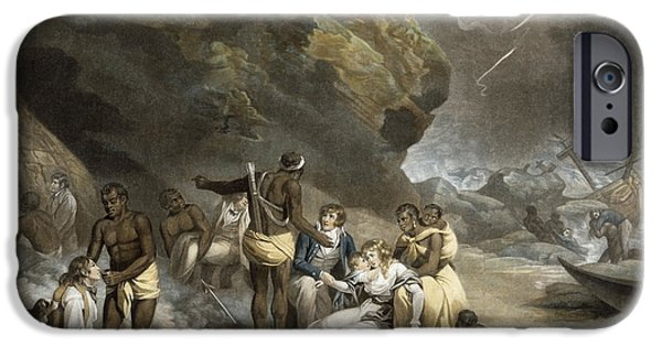 Savings iPhone Cases - African Hospitality, Engraved By John Raphael Smith, 1791 Mezzotint iPhone Case by George Morland