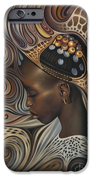 African Spirits II iPhone Case by Ricardo Chavez-Mendez