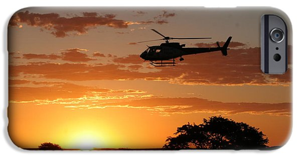 Police iPhone Cases - African Sunset II iPhone Case by Paul Job