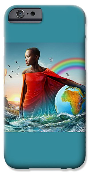 The Lupita Tsunami iPhone Case by Anthony Mwangi
